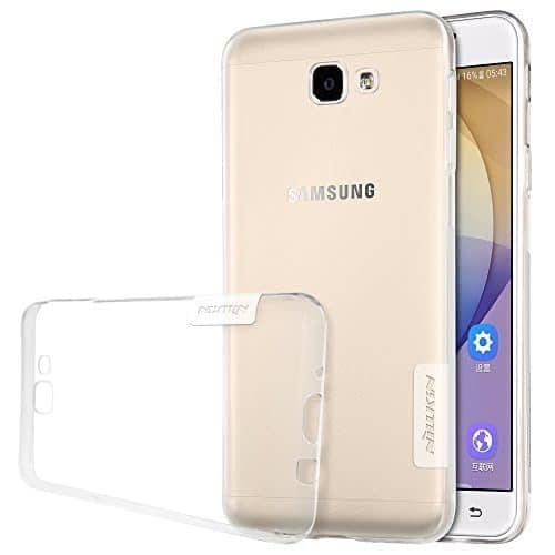 Original Nillkin 0.6MM Nature Soft TPU Flexible Back Cover Case for Samsung Galaxy J7 Prime / On7 2016 - ( Transparent / White Color ) 1