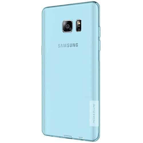 Original Nillkin 0.6MM Nature Soft TPU Flexible Back Cover Case for Samsung Galaxy Note 7 - ( Sky Blue Color ) 1