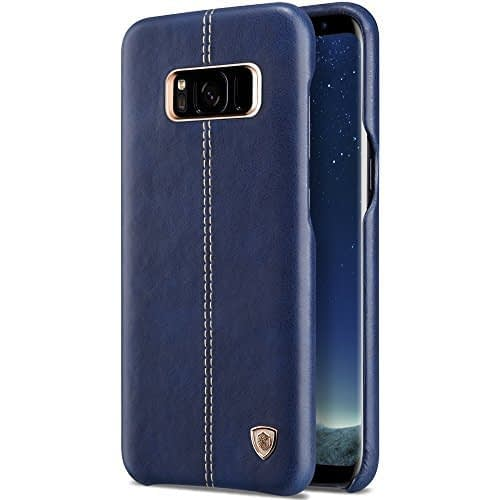 Original Nillkin Englon Series Leather Back Cover Case for Samsung Galaxy S8 ( 5.8 inch ) - Blue Color 1