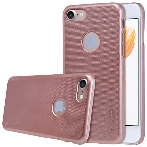 Original Nillkin Frosted Shield Hard Plastic Back Cover Case for Apple iPhone 7 ( 4.7 inch ) ( Rose gold Color ) + Free Nillkin Screen Guard 1