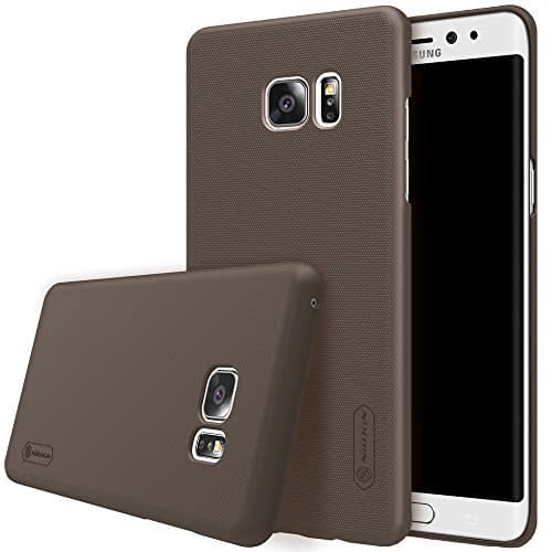 Original Nillkin Frosted Shield Hard Plastic Back Cover Case for Samsung Galaxy Note 7 ( Brown Color ) + Free Nillkin Screen Guard 1