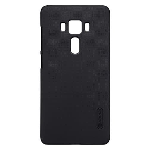 Original Nillkin Super Frosted Shield Hard Back Cover Case for Asus Zenfone 3 Deluxe ZS570KL ( Black Color ) + Free Nillkin Screen guard 1
