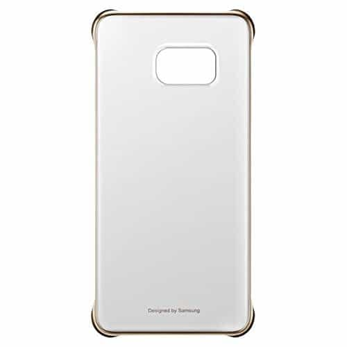 Original Samsung Galaxy S6 Edge+ Plus Clear Protective Back Cover Case EF-QG928CFEGIN - Gold 1