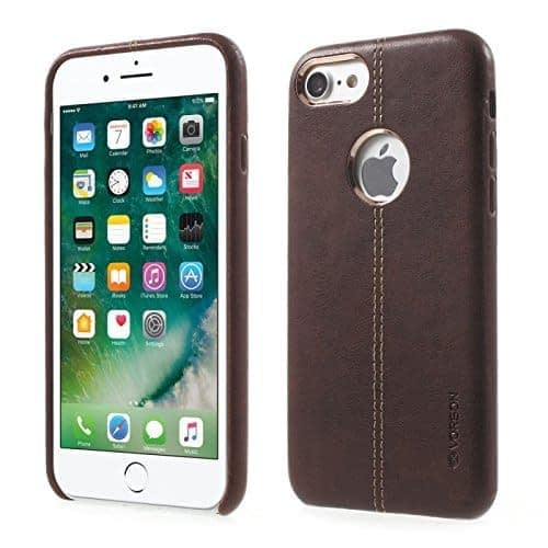Original Vorson Double Stitch Leather Back Cover Case for Apple iPhone 6 / 6S ( 4.7 inch ) - ( Brown Color ) 1