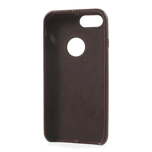 Original Vorson Double Stitch Leather Back Cover Case for Apple iPhone 6 Plus / 6S Plus ( 5.5 inch ) - ( Brown Color ) 4