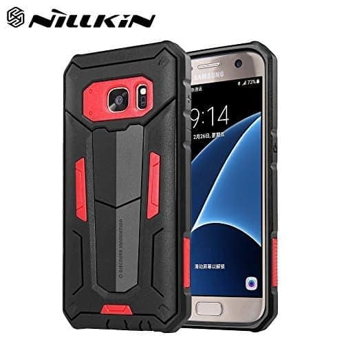 Red Nillkin Defender 2 Shell Heavy Duty Drop Proof Back Case Cover for Samsung Galaxy S7 edge 1