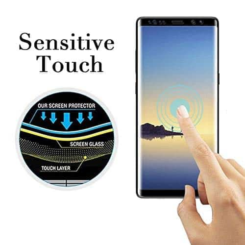 Royal Star 5D Curved 0.2mm Thin 9H (Full Glue) Screen Tempered Glass Protector Guard for (Samsung Galaxy Note 9, Black) 7