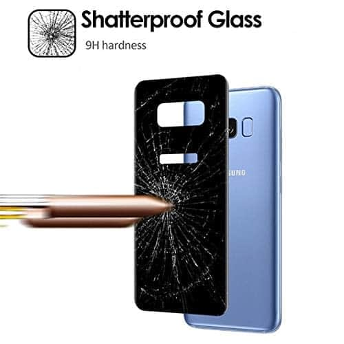 Royal Star 5D Curved 9H Full Cover Back Side Tempered Glass Protector Guard for (Samsung Galaxy S8, Black) 7