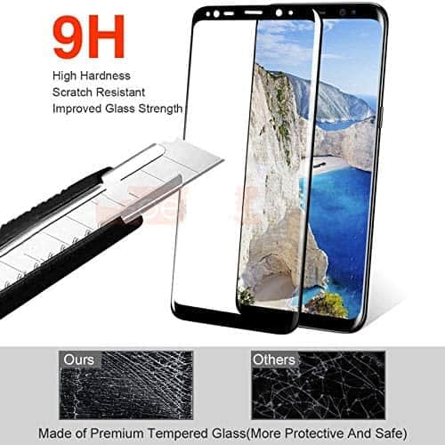 Royal Star 5D Curved (Full Glue) 9H Screen Tempered Glass Protector Guard for (Samsung S9 Plus, Black) 5