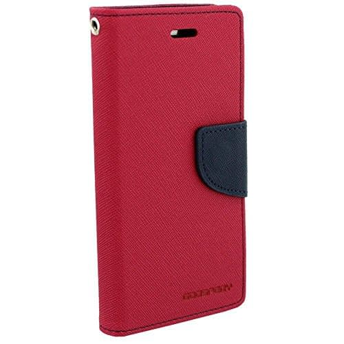 Royal Star Full Protection Fancy Diary Card Wallet Stand View Flip Case Back Cover for (Micromax Canvas Nitro A310 / A311, Pink) 1