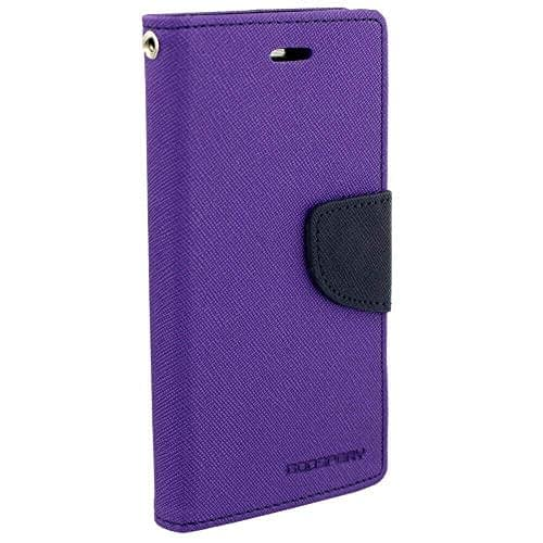 Royal Star Full Protection Fancy Diary Card Wallet Stand View Flip Case Back Cover for (Samsung Galaxy A8 (2015 Model), Purple) 1