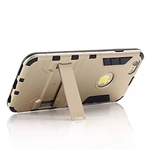 Royal Star Graphic Kickstand Hard Dual Rugged Armor Hybrid Bumper Back Cover Case for (Apple iPhone 6 / 6S, Gold) 2