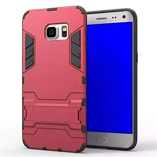 Royal Star Graphic Kickstand Hard Dual Rugged Armor Hybrid Bumper Back Cover Case for (Samsung Galaxy S6 Edge Plus, Red) 1