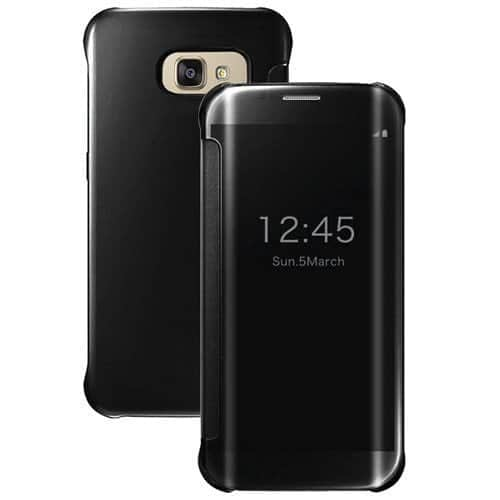Royal Star Luxury Clear View Mirror Flip Smart Cover Case for Samsung Galaxy S7 Edge (Black) 1