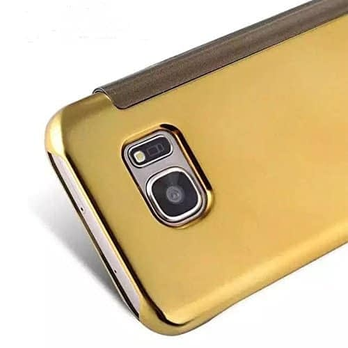 Royal Star Luxury Clear View Mirror Flip Smart Cover Case for Samsung Galaxy S7 Edge (Gold) 4