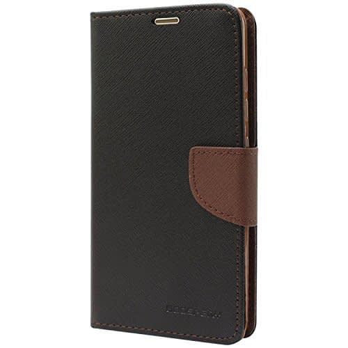 Royal Star Mercury Goospery Fancy Diary CARD Wallet Flip Case Back Cover for Nokia 6 (5.5inch)- Black+Brown 1