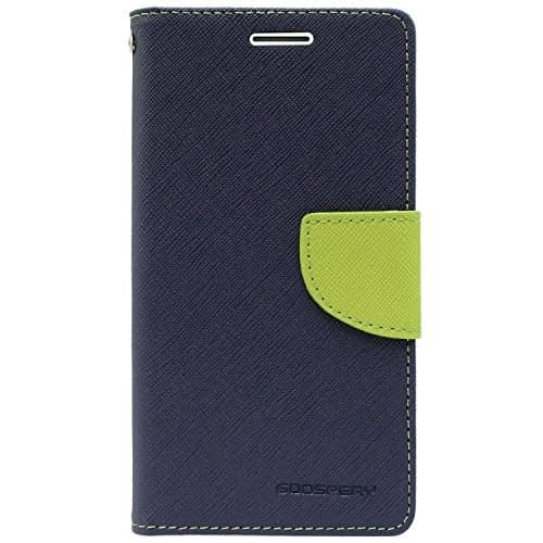 Royal Star Mercury Goospery Fancy Diary CARD Wallet Flip Case Back Cover for Vivo Y21 - Blue+Green 1