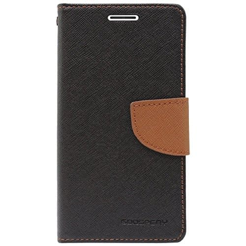 Royal Star Mercury Goospery Fancy Diary Card Wallet Flip Case Back Cover for OnePlus 3 / OnePlus 3T (Black Brown) 1
