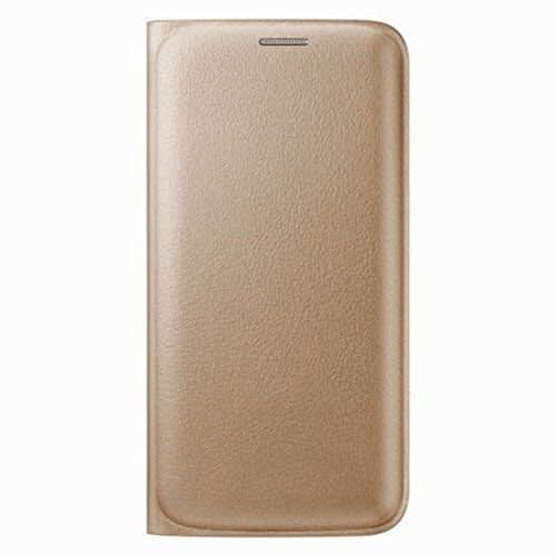 Royal Star Premium PU Leather Flip Cover Case With Pocket For Samsung Galaxy J7 2016 Edition ( Without Sensor ) ( Gold ) 1