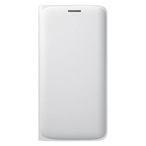 Samsung Flip Wallet PU Cover for Galaxy S6 Edge (White) 1