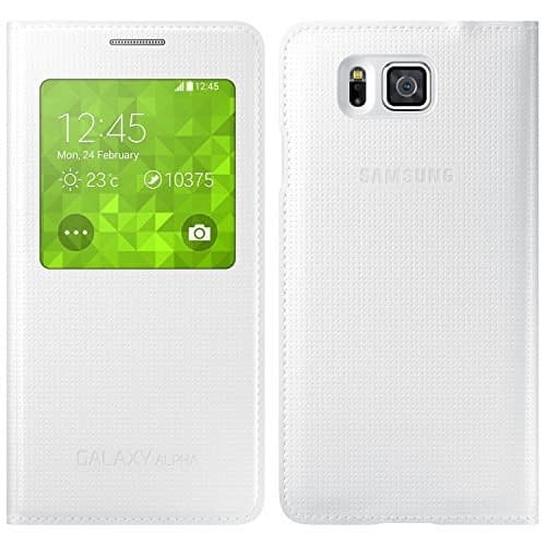 Samsung Galaxy ALPHA S VIEW Flip Cover White 1