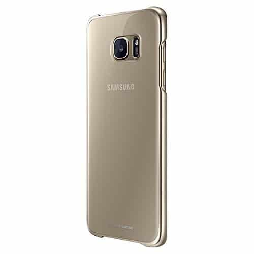 Samsung Galaxy S7 Edge Clear Cover Gold 4