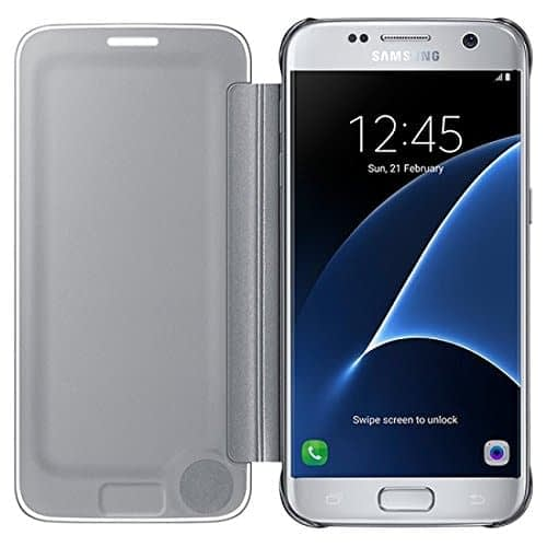 Samsung Galaxy S7 Edge Clear View Flip Cover EF-ZG935CSEGIN - Silver 3