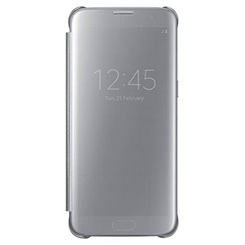 Samsung Galaxy S7 Edge Clear View Flip Cover EF-ZG935CSEGIN - Silver 1