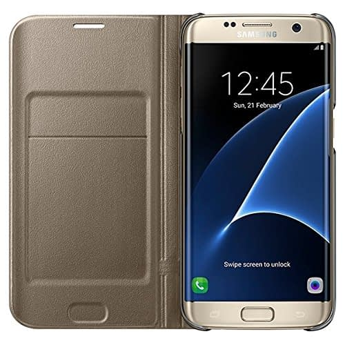 Samsung Galaxy S7 Edge LED view cover Gold 4