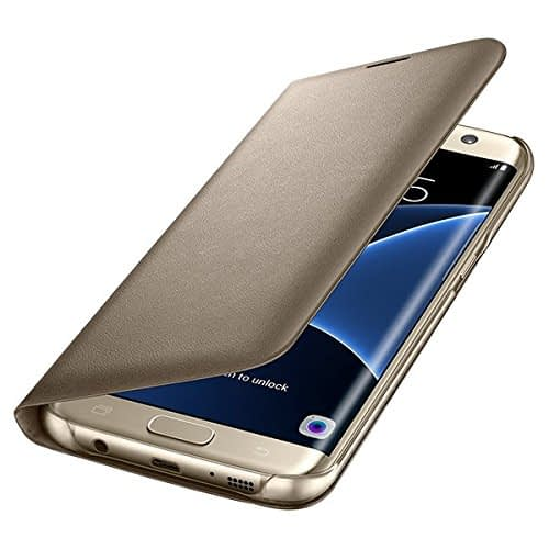 Samsung Galaxy S7 Edge LED view cover Gold 5