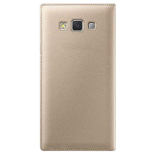 Starcase Official S-View Flip Cover For Samsung Galaxy A7 - Gold 3