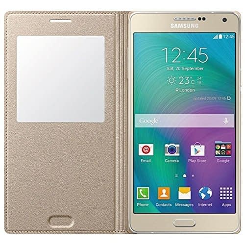 Starcase Official S-View Flip Cover For Samsung Galaxy A7 - Gold 4