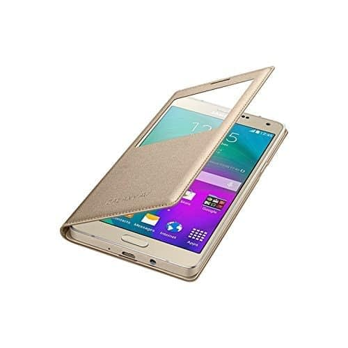 Starcase Official S-View Flip Cover For Samsung Galaxy A7 - Gold 5