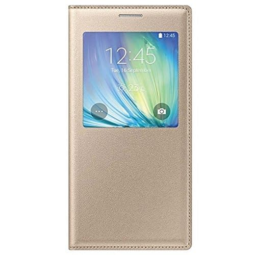Starcase Official S-View Flip Cover For Samsung Galaxy A7 - Gold 1