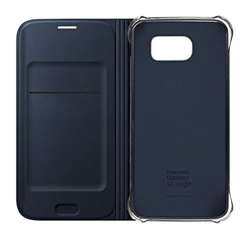 Sumsung Flip Wallet PU Cover for Galaxy S6 Edge (Black) 6