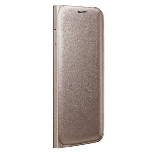 Sumsung Flip Wallet PU Cover for Galaxy S6 Edge (Gold) 4