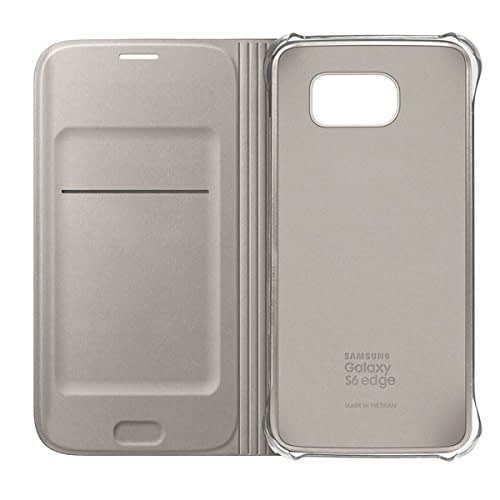 Sumsung Flip Wallet PU Cover for Galaxy S6 Edge (Gold) 6