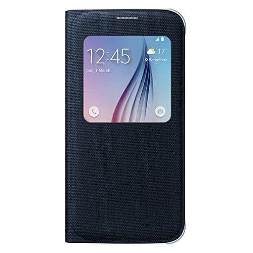 Sumsung S-View Fabric Cover for Galaxy S6 (Black) 1