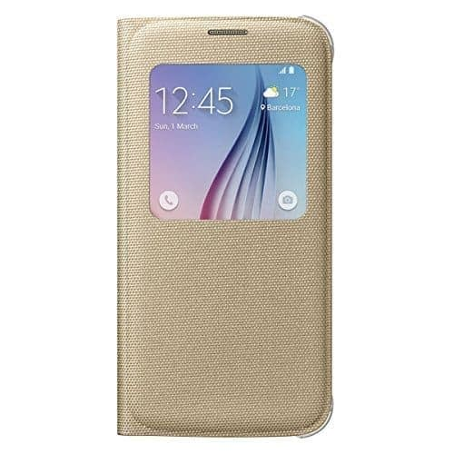 Sumsung S-View Fabric Cover for Galaxy S6 (Gold) 1