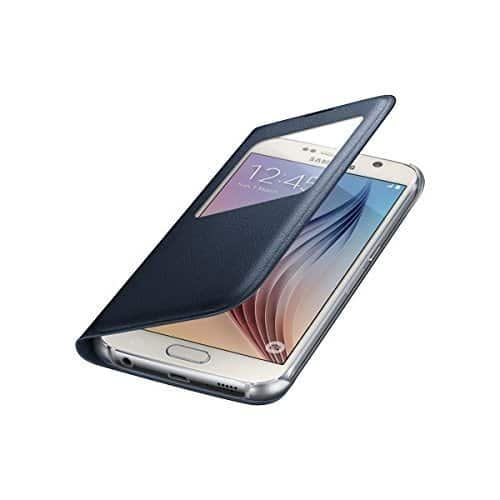Sumsung S-View PU Cover for Galaxy S6 (Black) 4