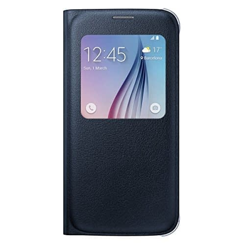 Sumsung S-View PU Cover for Galaxy S6 (Black) 1