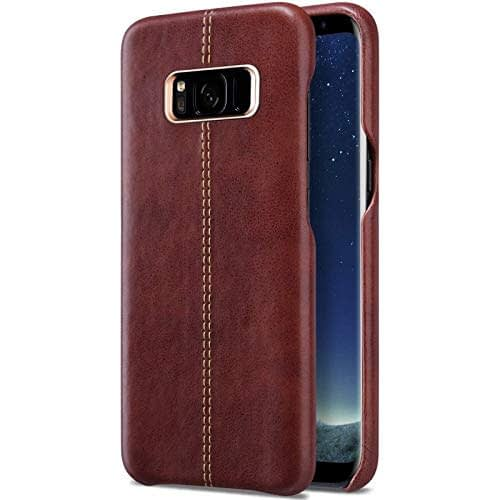 Vorson Pu Leather Case Shock Resistance Protective Back Cover Case for (Samsung Galaxy S8 (Vorson Back Cover), Brown) 4