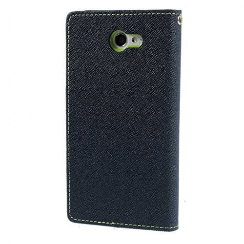 iAccessorize Mercury Goospery Flip Wallet Case Cover For Sony Xperia M2 (Green) 3