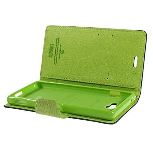 iAccessorize Mercury Goospery Flip Wallet Case Cover For Sony Xperia M2 (Green) 5