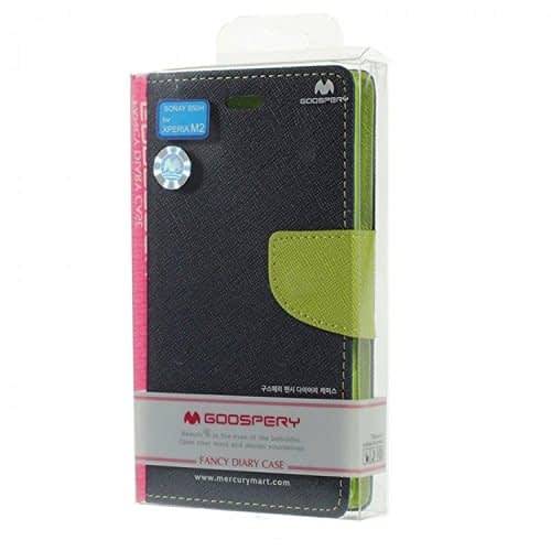 iAccessorize Mercury Goospery Flip Wallet Case Cover For Sony Xperia M2 (Green) 7