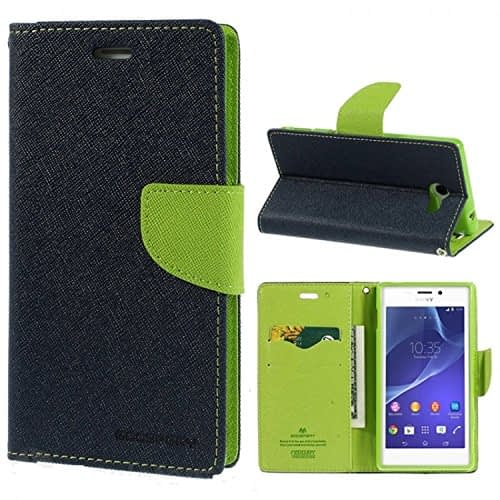 iAccessorize Mercury Goospery Flip Wallet Case Cover For Sony Xperia M2 (Green) 1
