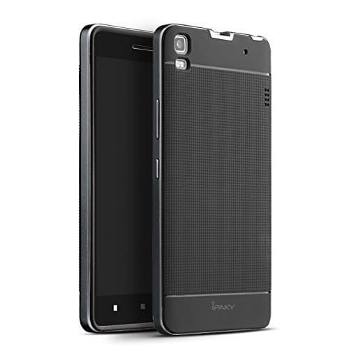iPAKY Ultra Slim Fit Dual Layer [ Soft TPU + Hard PC ] Hybrid Bumper Case Cover High Impact Resistant Back Protective Skin for Lenovo K3 Note ( Black ) 1