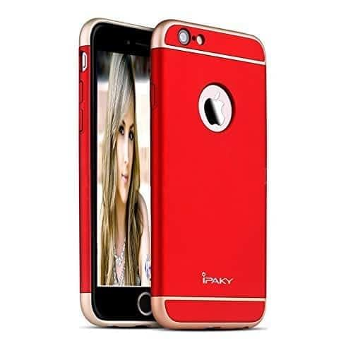 iPaky 3 Piece Hybrid Protective Back Case Cover for Apple iPhone 6 Plus / 6S Plus - Red 1