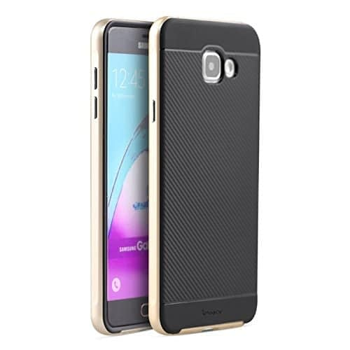 iPaky Brand High Quality Silicon Black Back + PC Golden Frame Shockproof Back Cover for Samsung Galaxy A5 -2016 Edition SM-A510F 1