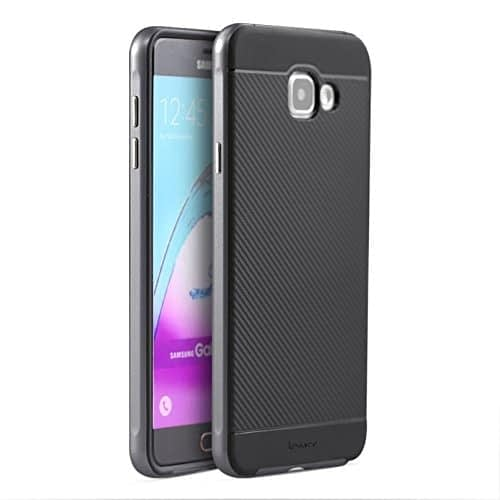 iPaky Brand High Quality Silicon Black Back + PC Grey Frame Shockproof Back Cover for Samsung Galaxy A7 -2016 Dual Sim SM-A710F 1